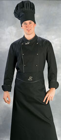 Grembiule cuoco nero